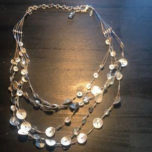 Chico's multisteand silvertone necklace